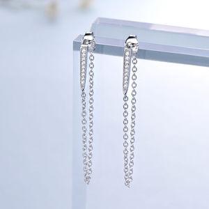 Silver Long Earrings for Women Dangle Hanging